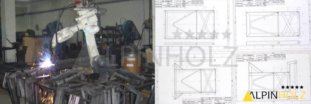 Fabricación de las mesas y bancos plegables de Alpinholz