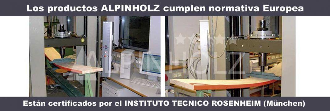 Pruebas de resistencia de las mesas y los bancos plegables de Alpinholz