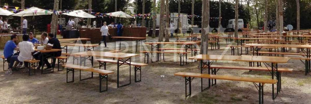 Mesas plegables para eventos de Alpinholz, fabricantes europeos