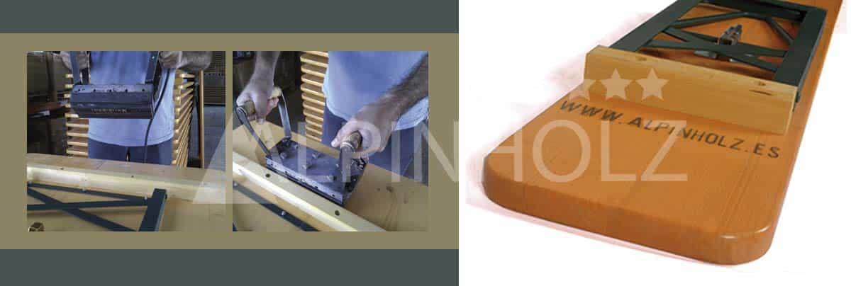 Fabricantes de mesas y bancos plegables de madera alemanas de Alpinholz