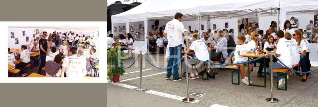 Mesas plegables alemanas de madera para eventos Alpinholz