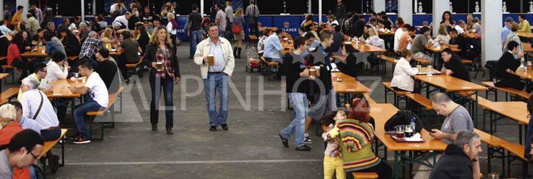 Alquiler de mesas cerveceras alemanas de Alpinholz