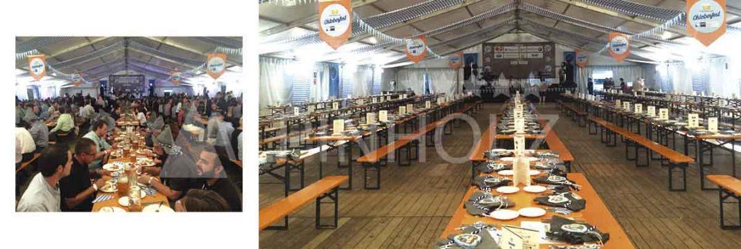 Fabricantes de mesas y bancos plegables de madera, producto italiano de Alpinholz