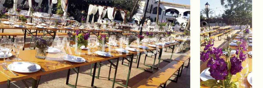 Mesas plegables de madera para catering y eventos elegantes de Alpinholz