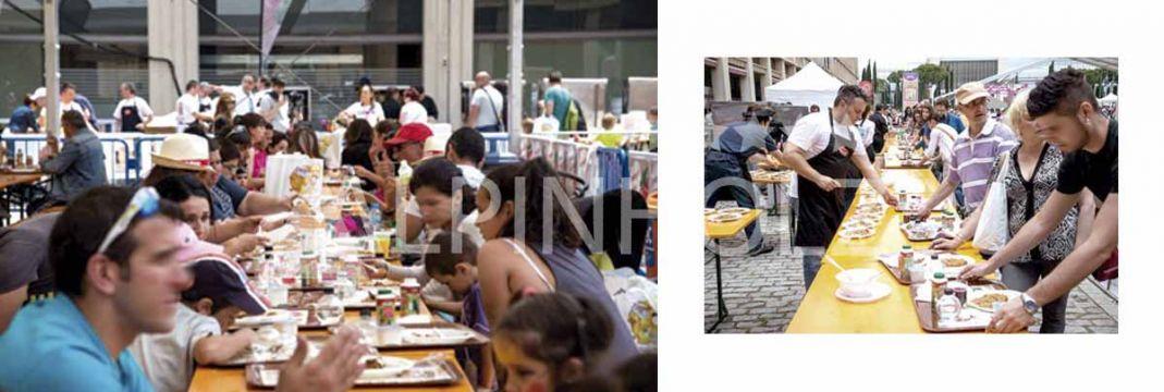 Alquiler de mesas plegables para fiestas populares de Alpinholz