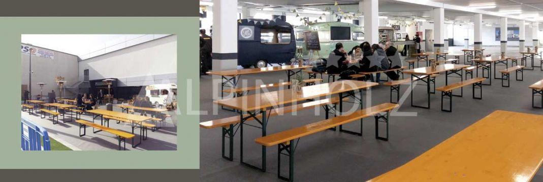 Mesas plegables de alquiler de Alpinholz, mesas cerveceras alemanas