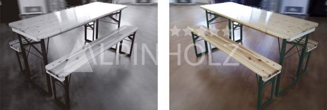 Mesas plegables de madera Miniline de Alpinholz