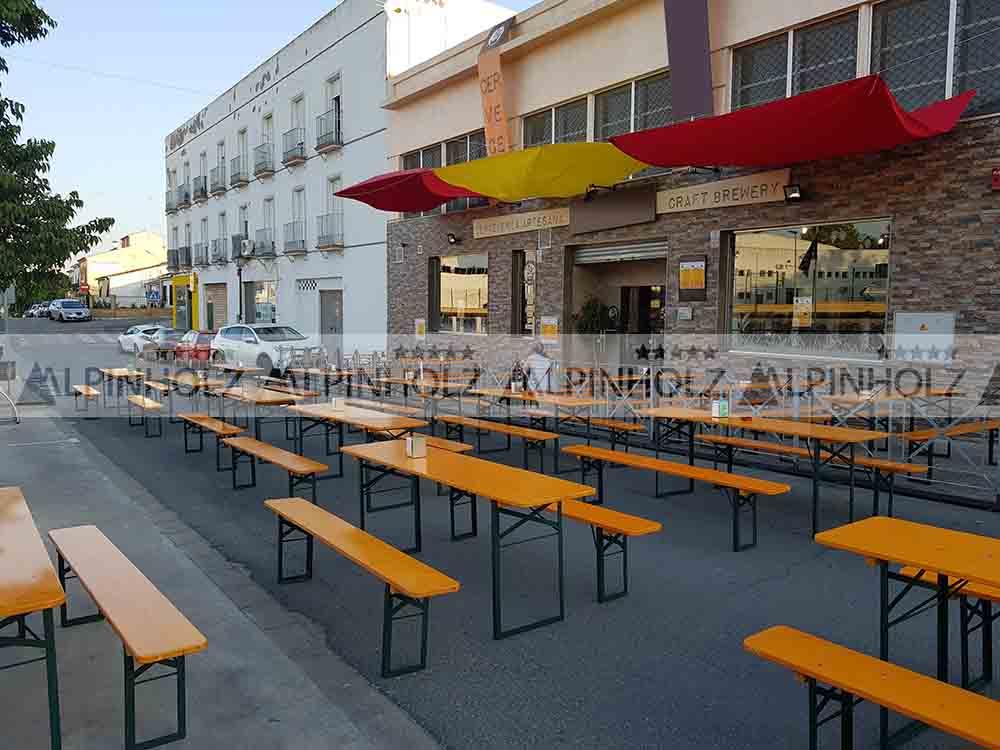 Las mesas cerveceras de Alpinholz