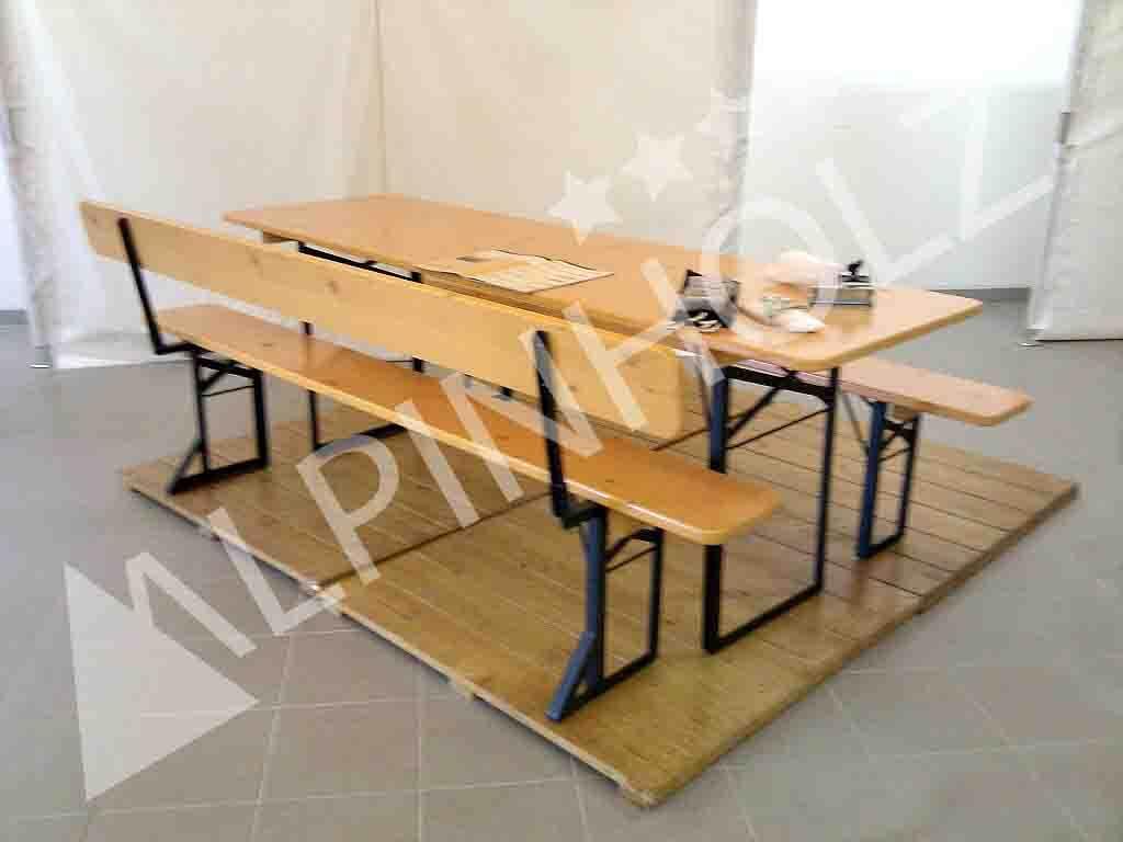 Fabricantes de mesas plegables y bancos plegables con respaldo Alpinholz