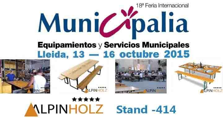 MESAS PLEGABLES ALPINHOLZ EN MUNICIPALIA 2015