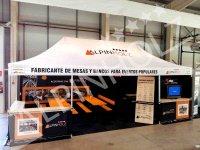 Stand en Municipalia 2015 de mesas y bancos plegables Alpinholz