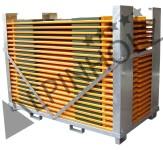 Contenedor metálico para las mesas y bancos plegables de madera Alpinholz
