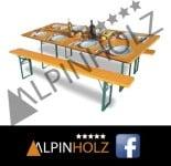 Mesas plegables y bancos plegables de madera Alpinholz en Facebook