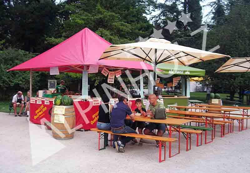 Mesas y bancos plegables alemanas de Alpinholz, mesas cerveceras de Alpinholz