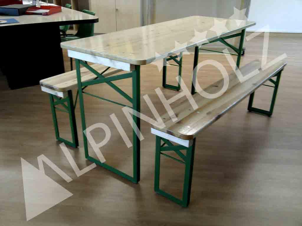 Mesas plegables y bancos plegables del modelo Miniline