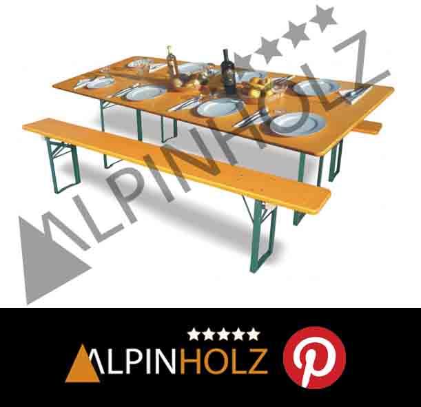 Pinterest y las mesas plegables y bancos plegables de madera de Alpinholz