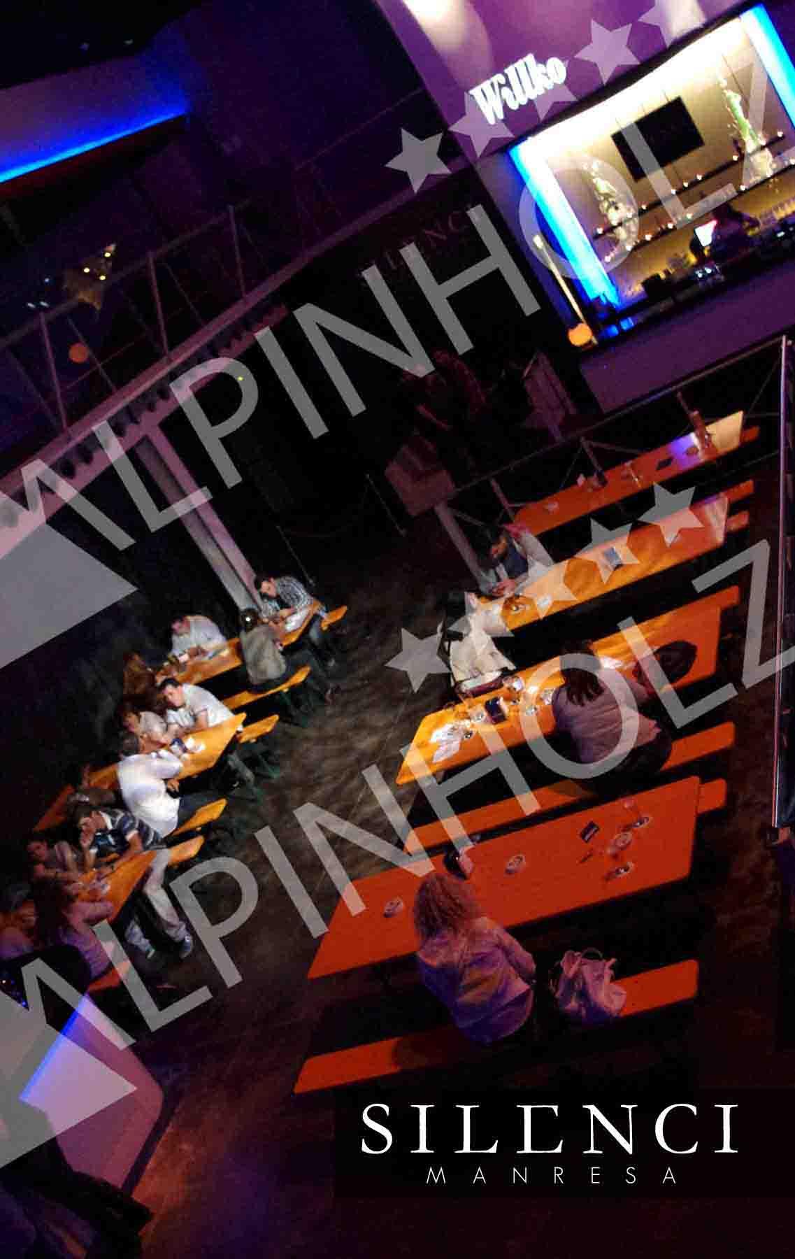 Mesas cerveceras para eventos y fiestas de Alpinholz