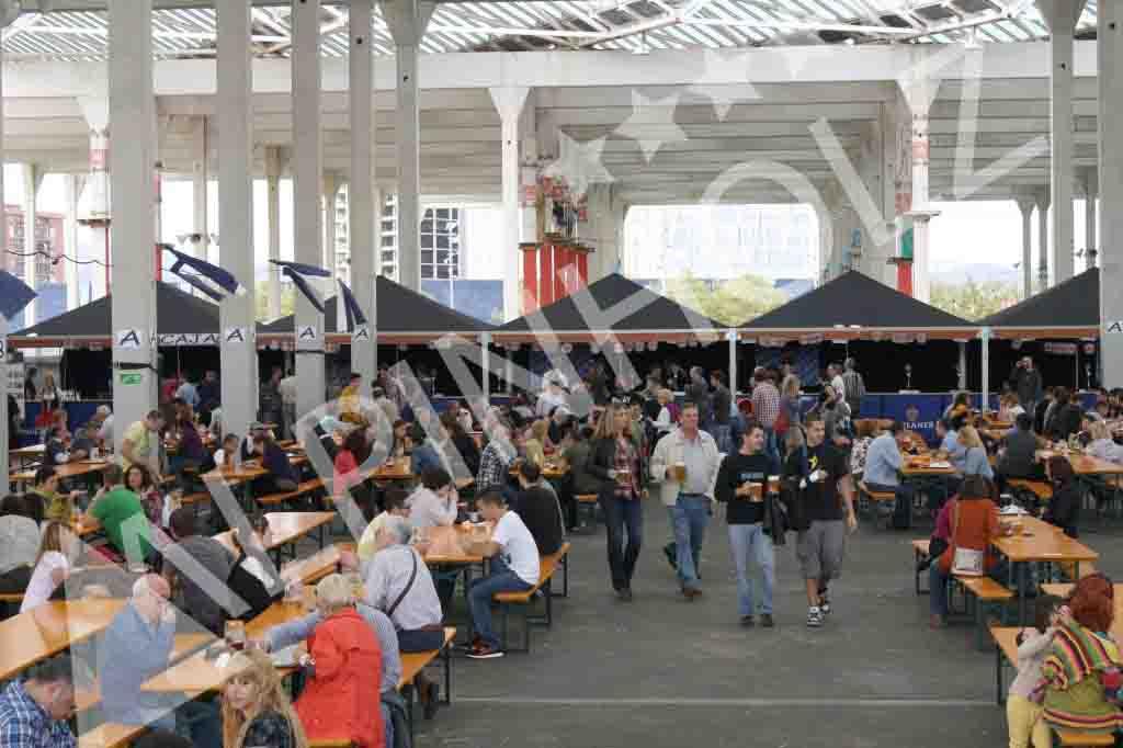 Mesas plegables de madera alemanas de Alpinholz, las mesas cerveceras