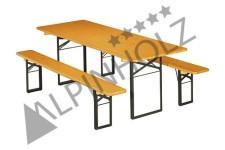 Mesas y bancos plegables TC6725 de madera de Alpinholz, las mesas cerveceras