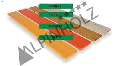La gama de colores de las mesas plegables y bancos plegables de Alpinholz