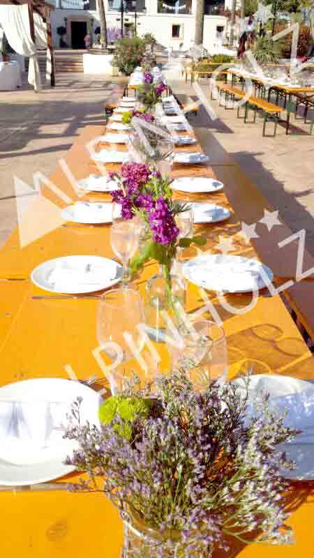 Mesas plegables para catering, mesas europeas de Alpinholz