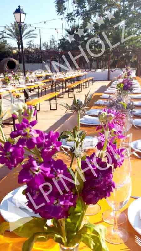 Mesas plegables para eventos elegantes de Alpinholz, las mesas cerveceras