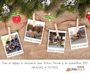 Blank christmas photo frames