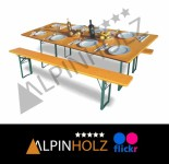 Mesas plegables y bancos plegables de madera Alpinholz FLICKR