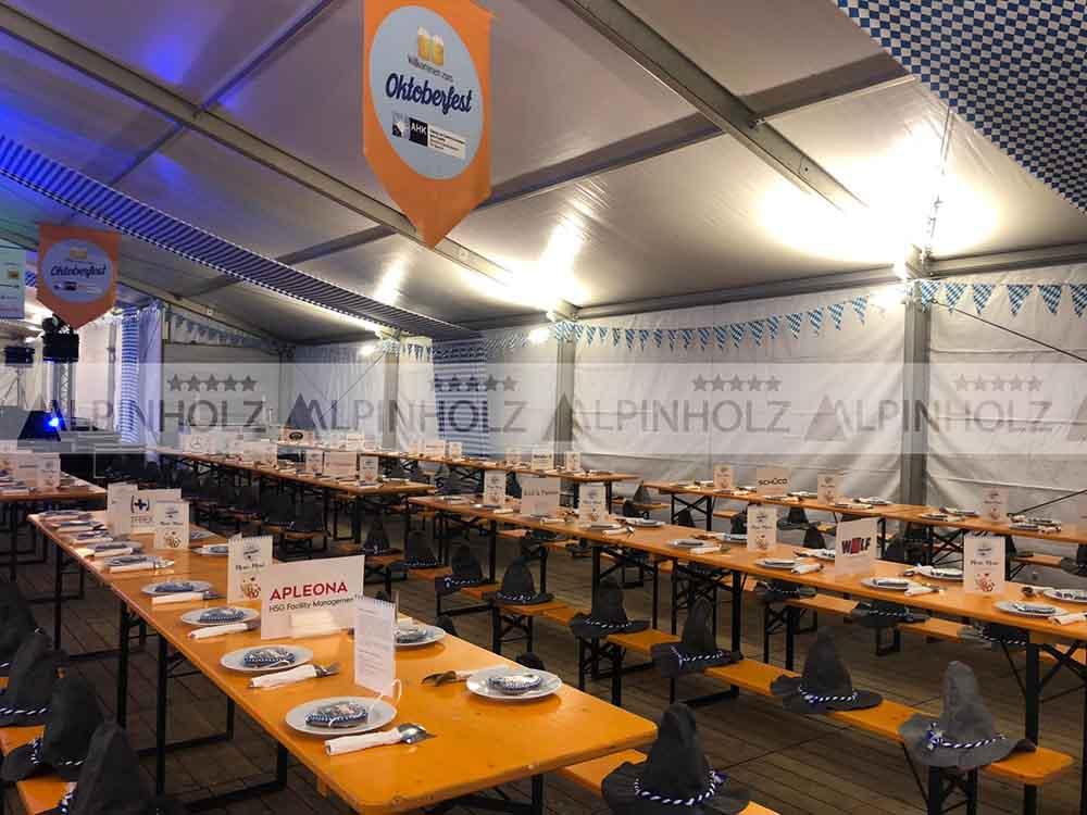 Alquiler y venta de mesas plegables para Oktoberfest