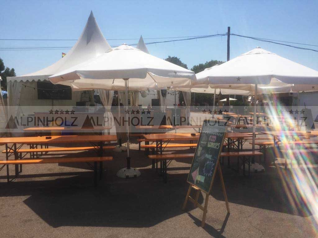 Mesas plegables para las fiestas de la cerveza