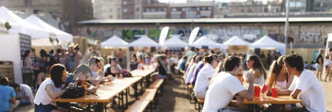 Mesas y bancos plegables alemanas, las mesas cerveceras de Alpinholz