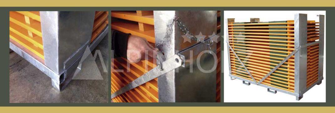 Contenedores para nuestras mesas y bancos plegables de madera Alpinholz