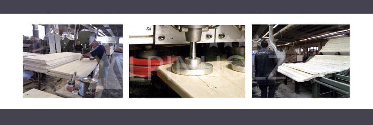 Fabricantes de mesas y bancos plegables de madera de abeto Alpinholz