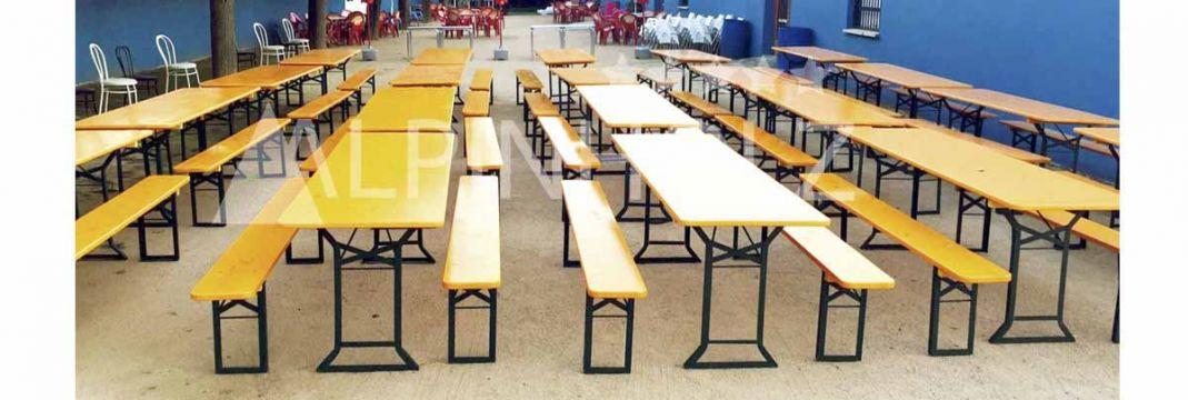 Mesas plegables de madera, modelo Confort de Alpinholz