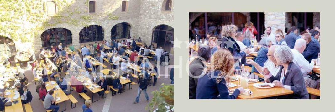 Mesas y bancos plegables de Alpinholz, mesas para fiestas cerveceras
