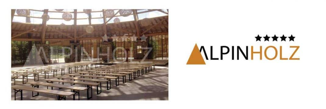 Fabricantes de mesas y bancos plegables de madera Alpinholz, modelo Miniline