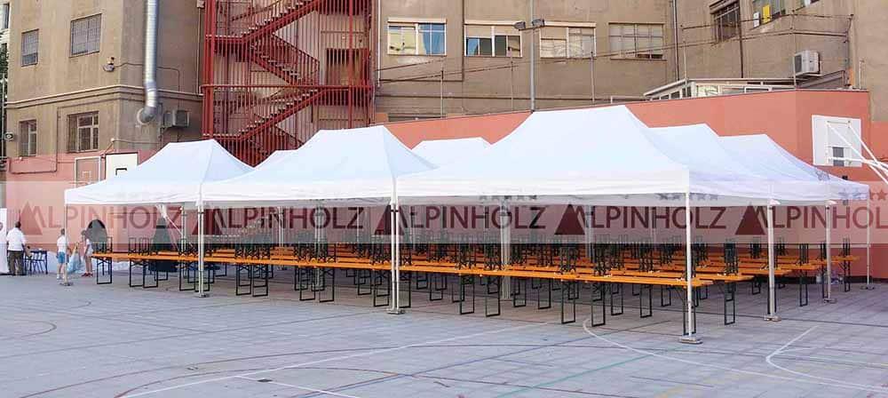 Alquiler de mesas y bancos plegables de Alpinholz